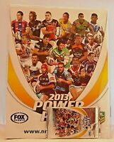 NEW NRL Power Play 2013 Game Trading Card Album + Bonus Cards FREE Post