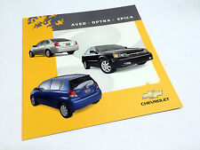 2004 Chevrolet Aveo Optra Epica Preview Brochure
