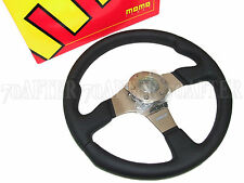 MOMO Steering Wheel - Race (350mm/Leather/Anthracite Spoke)