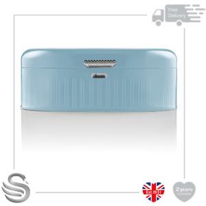 Swan Retro Range Bread Bin Kitchen Storage Easy Open Lid w/Chrome Plate Handle