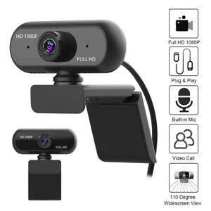 Full HD 720P/1080P Wide Angle USB Webcam USB2.0 Drive-Free With Mic L4Y0