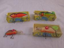 4 Vintage Nos Rabble Rouser Lures Rouster Deep Diver Di-Dapper Rattle Model