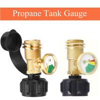 Propane Tank Brass Adapter Pressure Meter Gauge 4 Master LP Gas Grill BBQ RV Lid