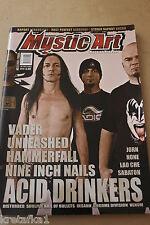 Mystic Art 3/2008 Vader, Nine Inch Nails, Acid Drinkers, Sabaton, Hammerfall