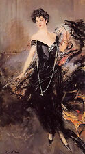 Oil painting giovanni boldini portrait of donna franca florio FREE SHIPPING COST