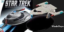 Eaglemoss Star Trek Starfleet Captain's Yacht Cousteau #75 w/Collector Magazine