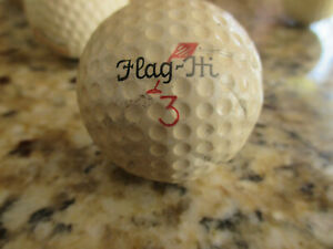 """Antique Golf Ball """"Flag-In"""" Dimple early 1900s"""