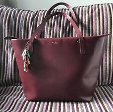 Radley Farningham Large Shoulder Bag Work Bag Smooth Leather Burgundy/Port