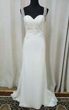 NEW Mori Lee Voyage Bridal 6798 Sheath Lace Wedding Dress Ivory Size 12