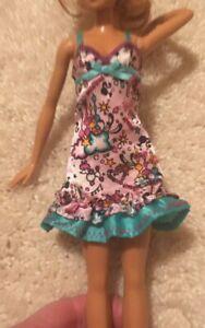 Barbie doll NIGHTGOWN Sister Slumber Party dream sleep Dress Nightie EUC! poodle