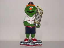 WALLY THE GREEN MONSTER Boston Red Sox Mascot Bobble Head 2013 WS Champs Trophy