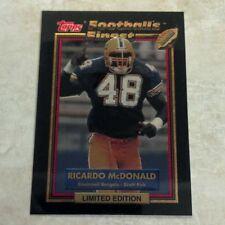 RICARDO MCDONALD 1992 TOPPS FOOTBALL'S FINEST LIMITED EDITION CARD