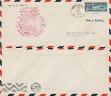 US 1940 PAN AM FIRST FLIGHT CANTON ISLAND TO HAWAII FAM 19 FLOWN COVER
