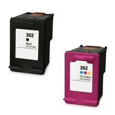Refilled HP 302 Black And HP 302 Colour Ink Cartridges Double F6U66AE F6U65AE