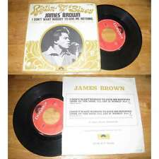JAMES BROWN - I Don't Want Nobody To Give Rare French PS 1969 BIEM Funk