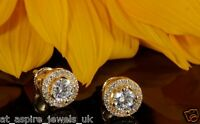 2.00ct Round Diamond Antique Bridal Stud Earrings 14ct Solid Yellow Gold
