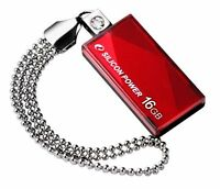 Silicon Power USB 2.0 Touch 810 Red 16GB Flash Drive