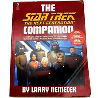 STAR TREK NEXT GENERATION COMPANION Larry Nemecek 1995 1st Rev - 7 SEASONS+MOVIE