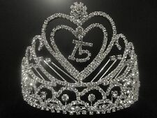 NEW Quinceanera 15 Year Old 15th Birthday Rhinestone Heart Tiara Comb Headpiece
