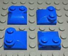 2115 Lego Stein schräg positiv 1x1x0,6 Transparent Blau 10 Stück