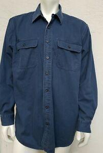 LL Bean Vintage Hurricane Flannel Lined Chore Button Shirt L Reg. Style 0 FKC6