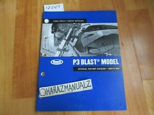 2009 BUELL P3 Blast Model Official Factory Parts Catalog Book Manual