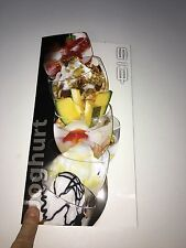 Eiskarte Joghurt eiskarte Eis Eiscafe Bistro Restaurant 6 Seiten Faltkarte 47 St