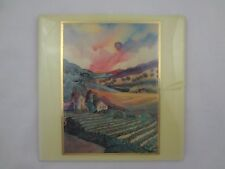"Jessel Miller  ~ Napa Valley, Ca Artist ~ 8"" x 8"" Ceramic Tile of ""Stone House"""