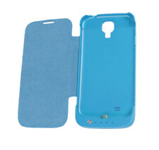3500MAH BACKUP BATTERY CHARGER POWER FLIP CASE COVER BLUE FOR GALAXY S4 S IV
