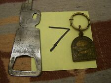 #7 OLD BALLANTINES FIGURAL & SCHLITZ KEY CHAIN DAV TAG BEER BOTTLE CAP OPENERS