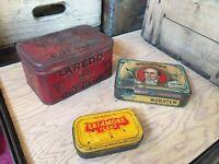 Vintage Laredo Cut Plug Smoking Tobacco Murray's Webster Cigar Tin Advertising