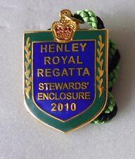 More details for henley royal regatta hrr enamel badge rowing stewards enclosure 2010