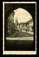 GERMANY SAALFELD THURINGIA c1930s RP PPC COFFEE + LEATHER SHOPS + CHURCH