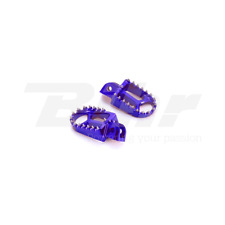 ART PEDANE MAGGIORATE IN ERGAL CNC BLU OFF ROAD FOOT PEGS BLUE HUSABERG