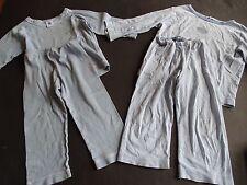 PETIT BATEAU Paket Zwei Ringel Schlafanzüge + 5 Unterhemden Shirts Gr.24m 86 92