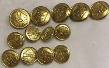 Gold Metal Blazer Buttons Set Of 13 Geoffrey Beene