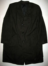 Vintage Style Manor by Bond Clothes Green Blue Herringbone Coat Plaid Lining USA