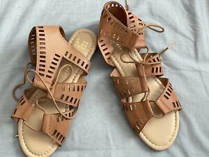 Brown Atmosphere Ladies Laced Sandals Primark Used Size 5