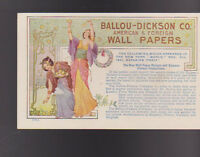 Ballou Dickson Co American & Foreign Wall Papers 1902 Ad Card