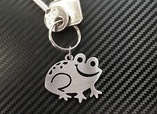 HAPPY FROG Toad Amphibian Lily Pad Pond Water Keyring Keychain Key Fob Gift