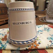 "Ceramarte Regenburg G. Beer Stein Different Mark On Bottom Preproduction 5-1/2"""