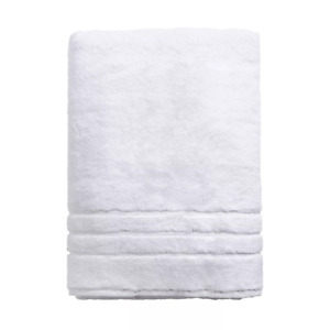 Cariloha WHITE Bamboo & Turkish Cotton BATH SHEET 600 GSM Odor Resist/Abosrbant!