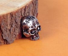 32X26MM 10pcs Antique Silver Floral Skull Head Rivetback Conchos STUD RIVET TACK