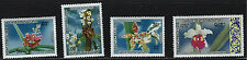 Laos SC216-218&C79 Beautiful Flowers MH 1971
