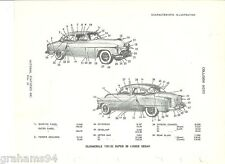 1951 Oldsmobile Series 98  Four Door Sedan Exterior Body  NOS Parts Guide