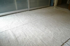 Natural Heavy 100% Cotton woven rugs. 3 sizes, Ivory with Grey fleck Large size