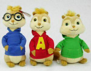 """Ty Alvin And The Chipmunks 7"""" Alvin Plush Toy Without Tag Kids Birthday Gift"""