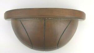 "POTTERY BARN Wood BASKETBALL Wall Shelf 11.5"" x 6"" sports kids man cave FLAW VGC"