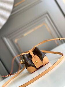Authentic Women LOUIS VUITTON Bag LV Mini Duffle Square Handbag 11.5*12*11.5 cm
