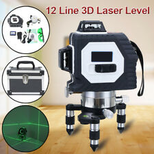 360° 12 Line 3D Laser Automatic Self Leveling Vertical & Horizontal Level Green